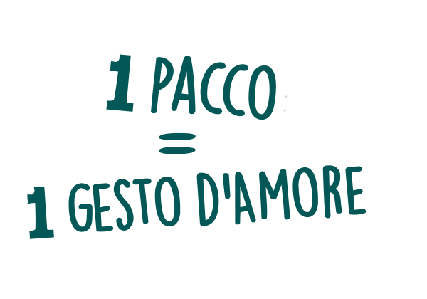 1 Pacco =  1 gesto d'amore
