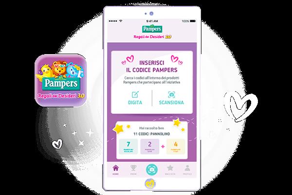 partecipa alla raccolta punti con la nuova app pampers.it